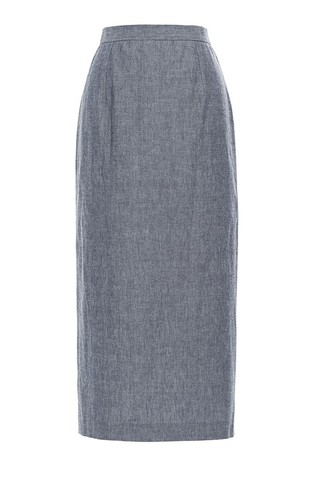 Medium apiece apart blue chambray vittoria skirt 2