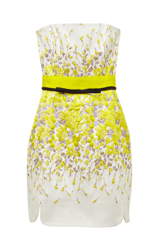 Medium giambattista valli multi giambattista valli floral jacquard bustier dress