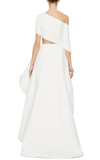 Asymmetric Cutout Charlie Gown by ROSIE ASSOULIN Now Available on Moda Operandi