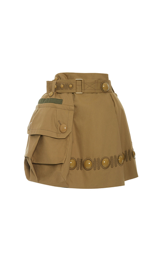 Medium marc jacobs gold one pocket high wasted skirt with cabuchon and embroidery d