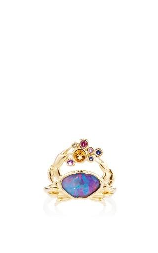 Medium amsterdam sauer x bianca brandolini multi crab black opal ring