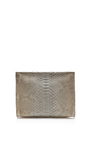 Grey Matte Python Cosmetic Clutch by HUNTING SEASON Now Available on Moda Operandi