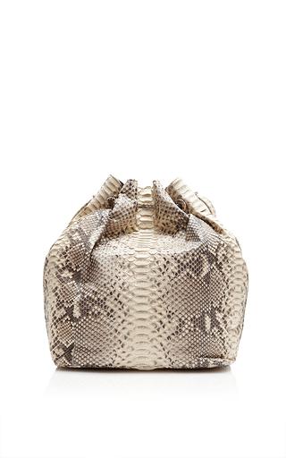 Taupe Python Large Bucket Bag by HUNTING SEASON Now Available on Moda Operandi