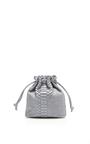 Grey Python Small Bucket Bag by HUNTING SEASON Now Available on Moda Operandi