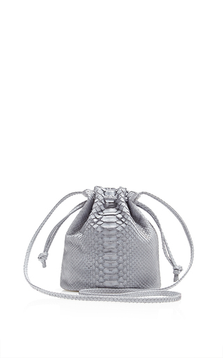 Medium hunting season dark grey grey python small bucket bag
