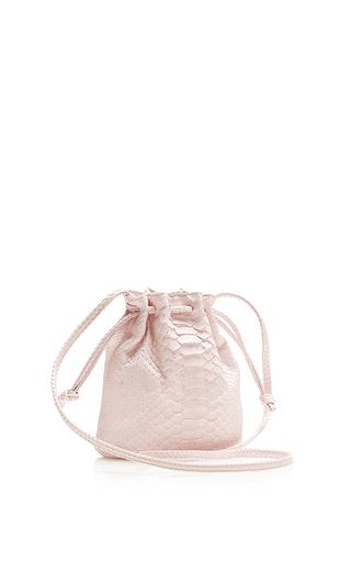 Pink Python Small Bucket Bag by HUNTING SEASON Now Available on Moda Operandi