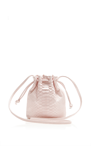 Medium hunting season pink pink python small bucket bag
