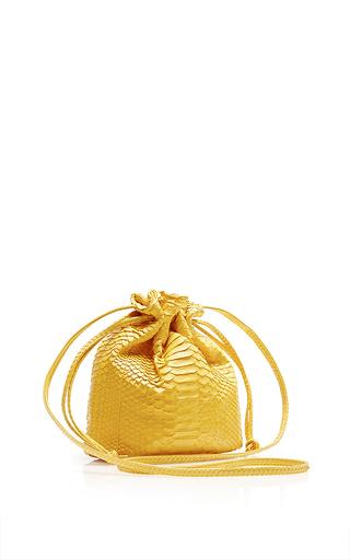 M'o Exclusive: Yellow Python Small Bucket Bag by HUNTING SEASON Now Available on Moda Operandi