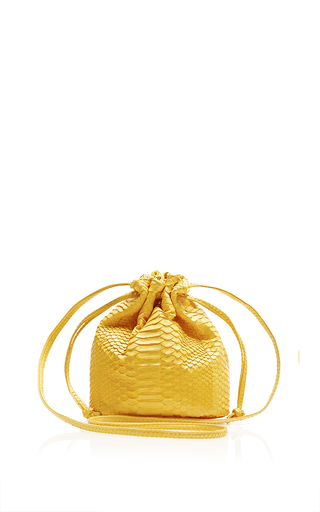 Medium hunting season yellow yellow small drawstring bucket bag