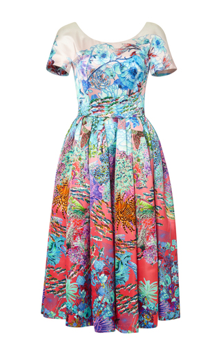 Medium mary katrantzou multi silera dress pavona berry