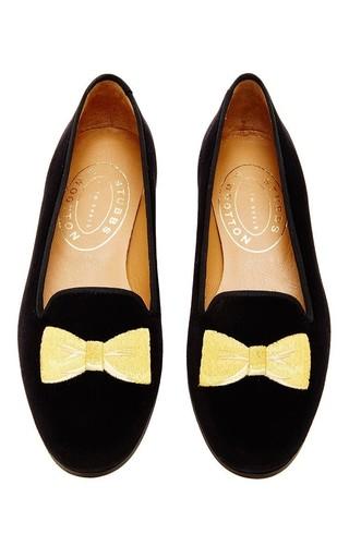 Medium stubbs wootton black bowtie gold skimmer