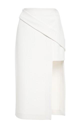 Medium nicholas white bandage double level skirt in ivory