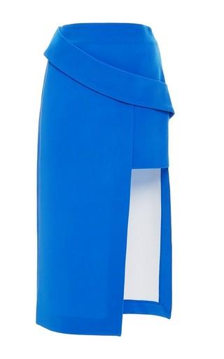 Medium nicholas blue bonded silk double level skirt in blue
