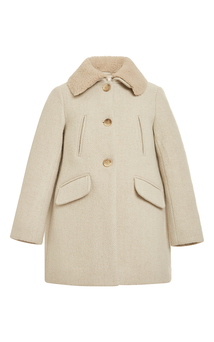 ef9b20ffd Coat With Removable Shearling Collar 10Y 12Y by Bonpoint