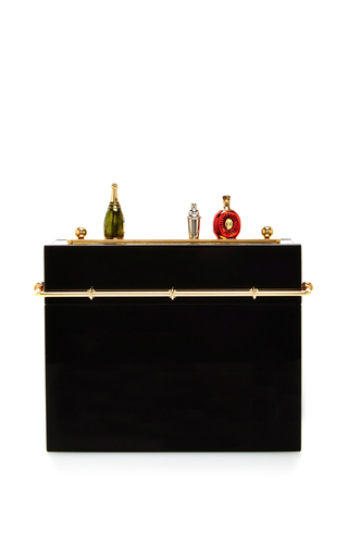 Medium charlotte olympia black cocktail hour clutch