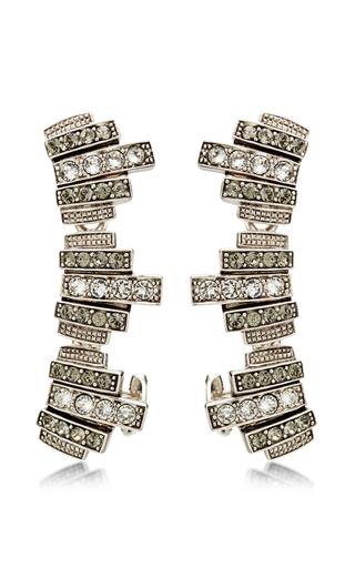 Medium ca lou white silver plated with swarovski crystals lou lou lobo earcuffs