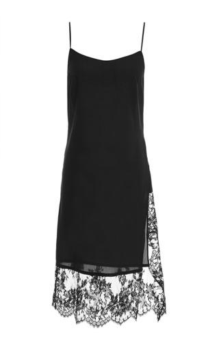 Medium tome black lace slip dress