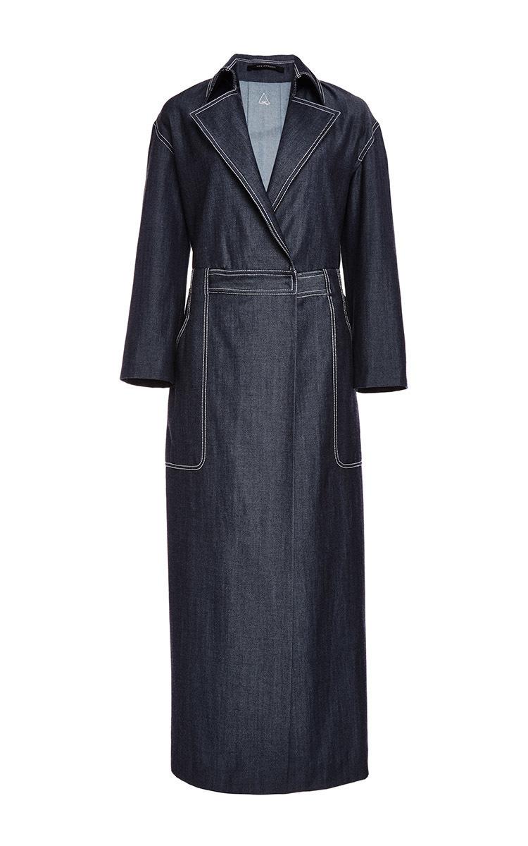 Japanese Lightweight Denim Shirt Dress By Wes Gordon