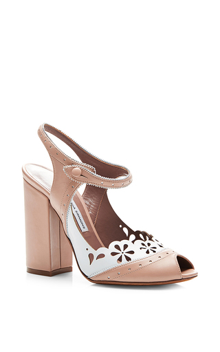 Medium tabitha simmons nude kitty 100mm heel sandal