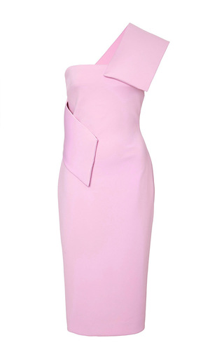Medium cushnie et ochs pink neoprene one shoulder dress