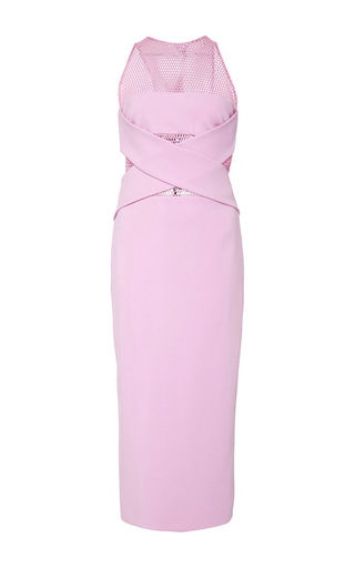Medium cushnie et ochs pink neoprene illusion dress