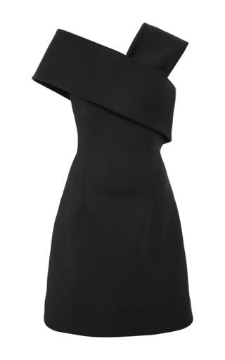 Medium cushnie et ochs black neoprene asymmetrical dress