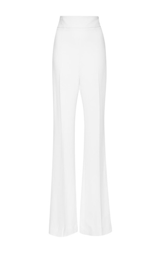 Medium cushnie et ochs white stretch cady high waist trouser in white