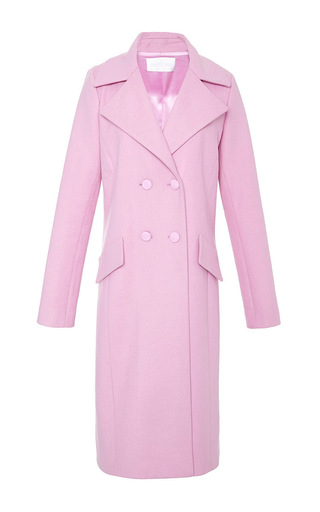Medium cushnie et ochs pink wool felt coat