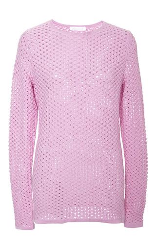 Medium cushnie et ochs pink cashmere silk pullover