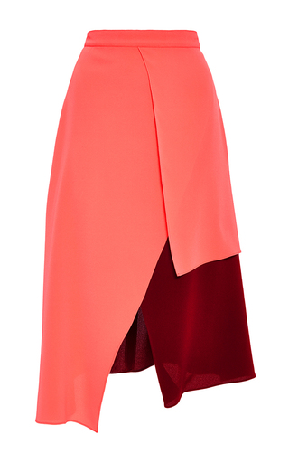 Medium tanya taylor pink silk georgette ava skirt