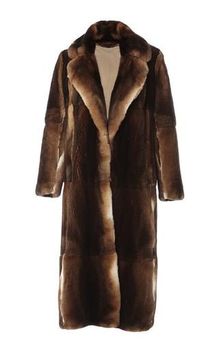Medium adam lippes brown collared orylag coat
