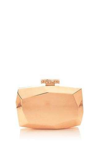 Medium monique lhuillier pink rose gold dasha clutch