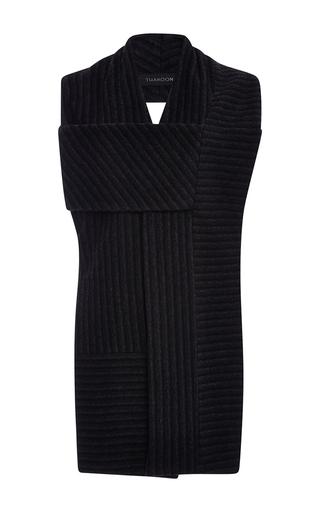 Medium thakoon dark grey striped alpaca scarf