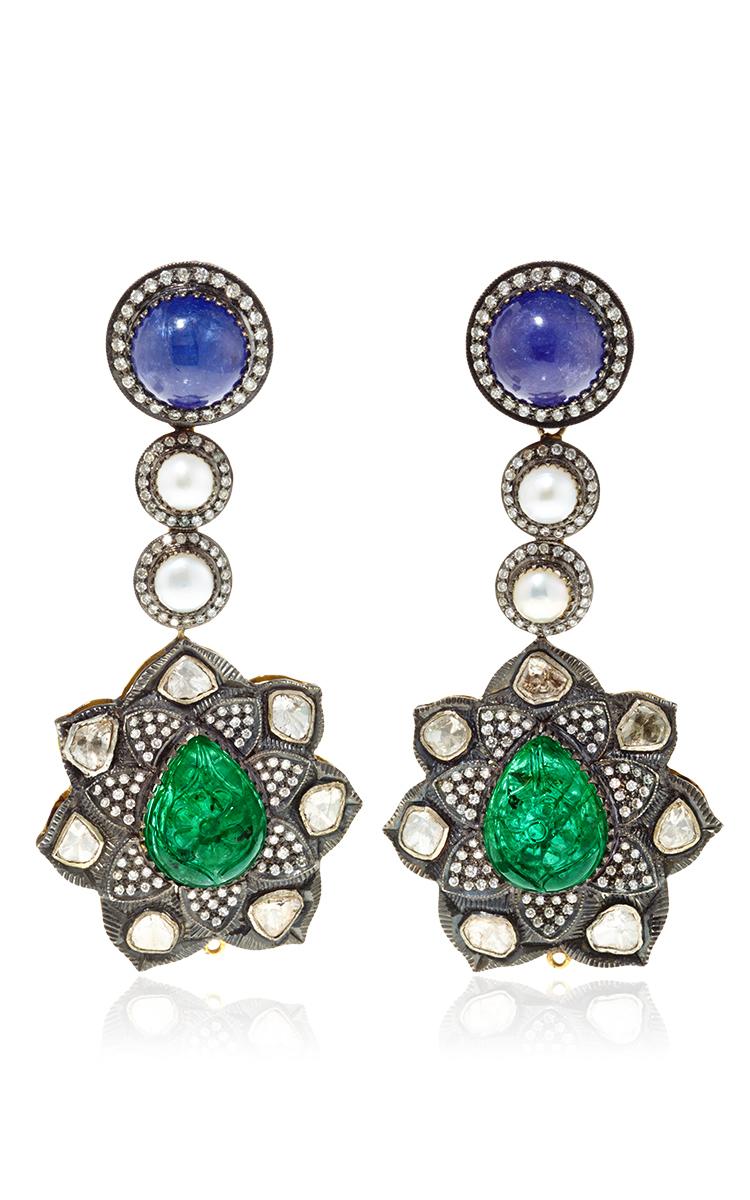 One Of A Kind Diamond, Pearl Tanzanite & Emerald | Moda Operandi