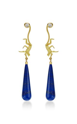 Medium marc alary blue micro monkey drop earrings 5