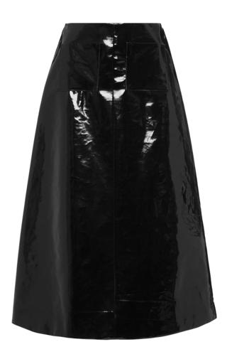Medium isa arfen black pvc coated cotton a line skirt