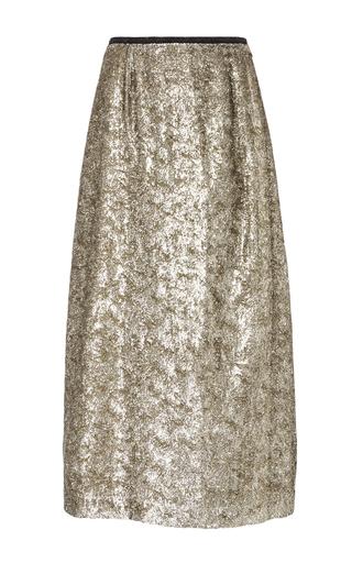 Medium isa arfen gold antique silk lurex clean long skirt