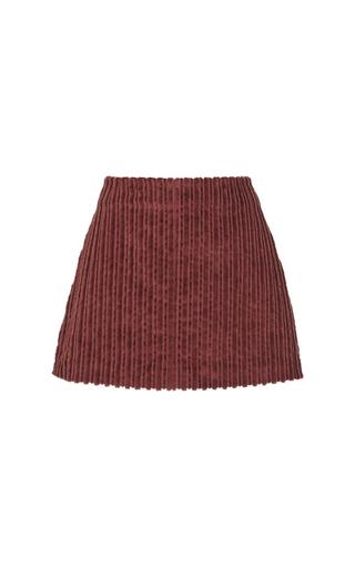 Medium isa arfen brown supersize corduroy mini skirt