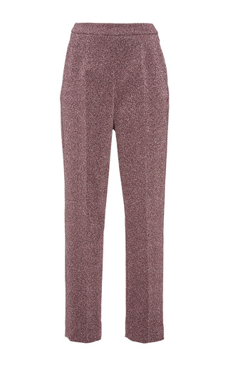 Medium isa arfen pink metallic stretch classic slim pantalone