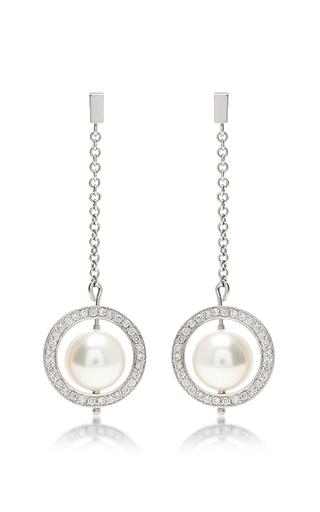 Medium efva attling silver planet stars earrings
