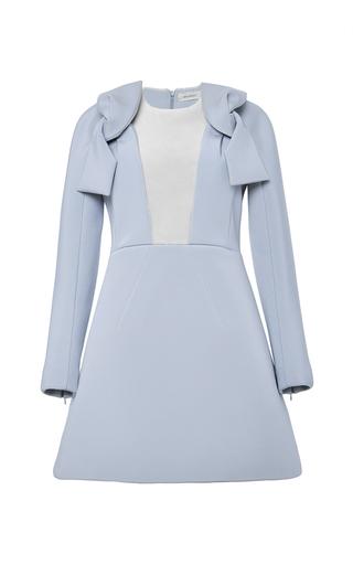 Medium delpozo blue double faced neoprene mini dress