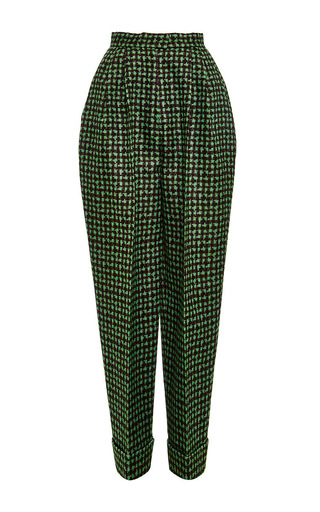 Houndstooth Triple Organza Trouser by DELPOZO Now Available on Moda Operandi