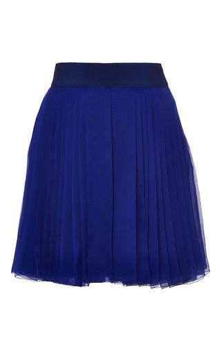 Medium delpozo blue silk chiffon shorts