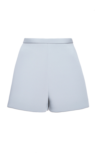 Medium delpozo blue double faced neoprene shorts