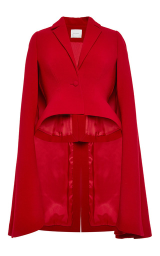 Medium delpozo red double faced wool crepe jacket