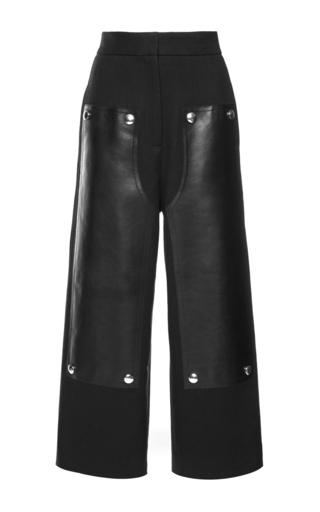 Medium alexander wang black cotton wool twill high waisted pant