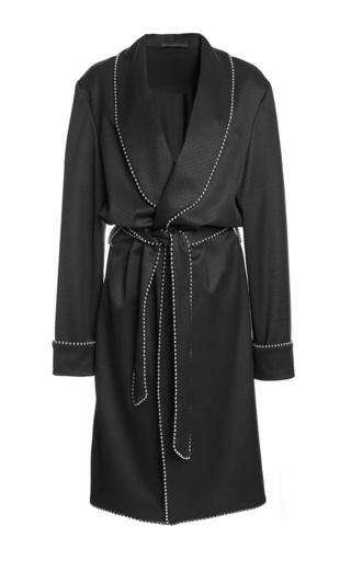 Medium alexander wang black pajama tailoring robe dress