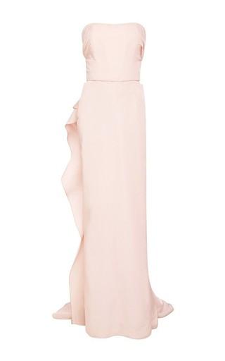 Medium marchesa pink silk faille strapless column gown