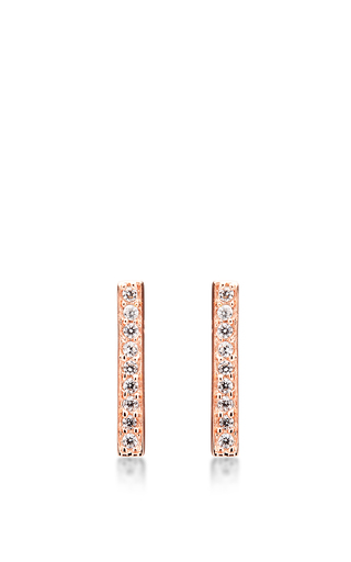 Medium fallon rose gold maria pave stick earrings