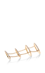 4 Tier Gold Pave Slice Ring With Chain by FALLON Now Available on Moda Operandi